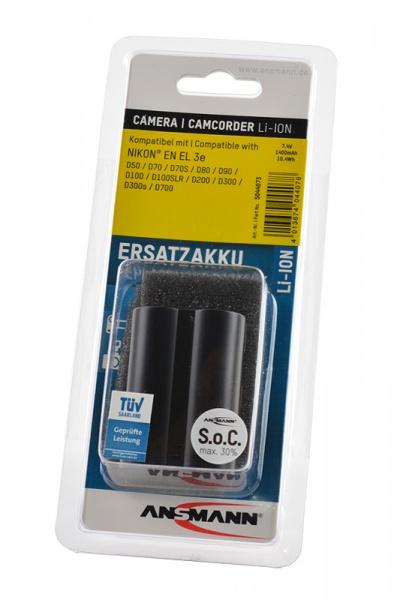 Аккумулятор ANSMANN EN EL 3e для фотоаппаратов