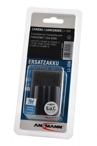 Аккумулятор ANSMANN CGA S006 для фотоаппаратов Panasonic