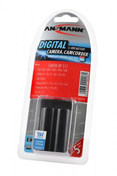 Аккумулятор ANSMANN BP 511 для фотоаппаратов