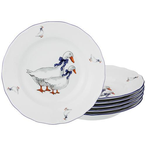 Набор суповых тарелок Lefard, Гуси, 24