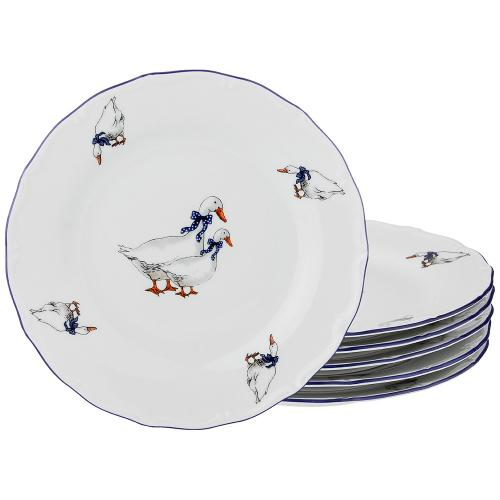 Набор тарелок Lefard, Гуси, 21 см,