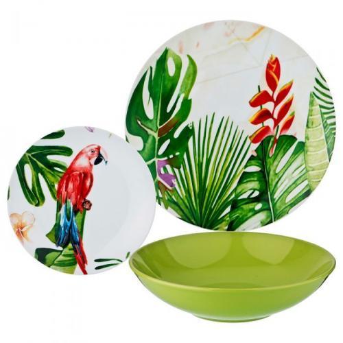 Набор столовой посуды Lefard, 18 предметов, тропики