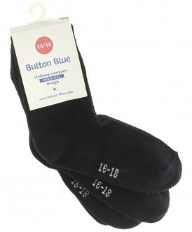 Комплект из 2 пар носков для мальчиков Button Blue, цв. черный, р-р 14-16