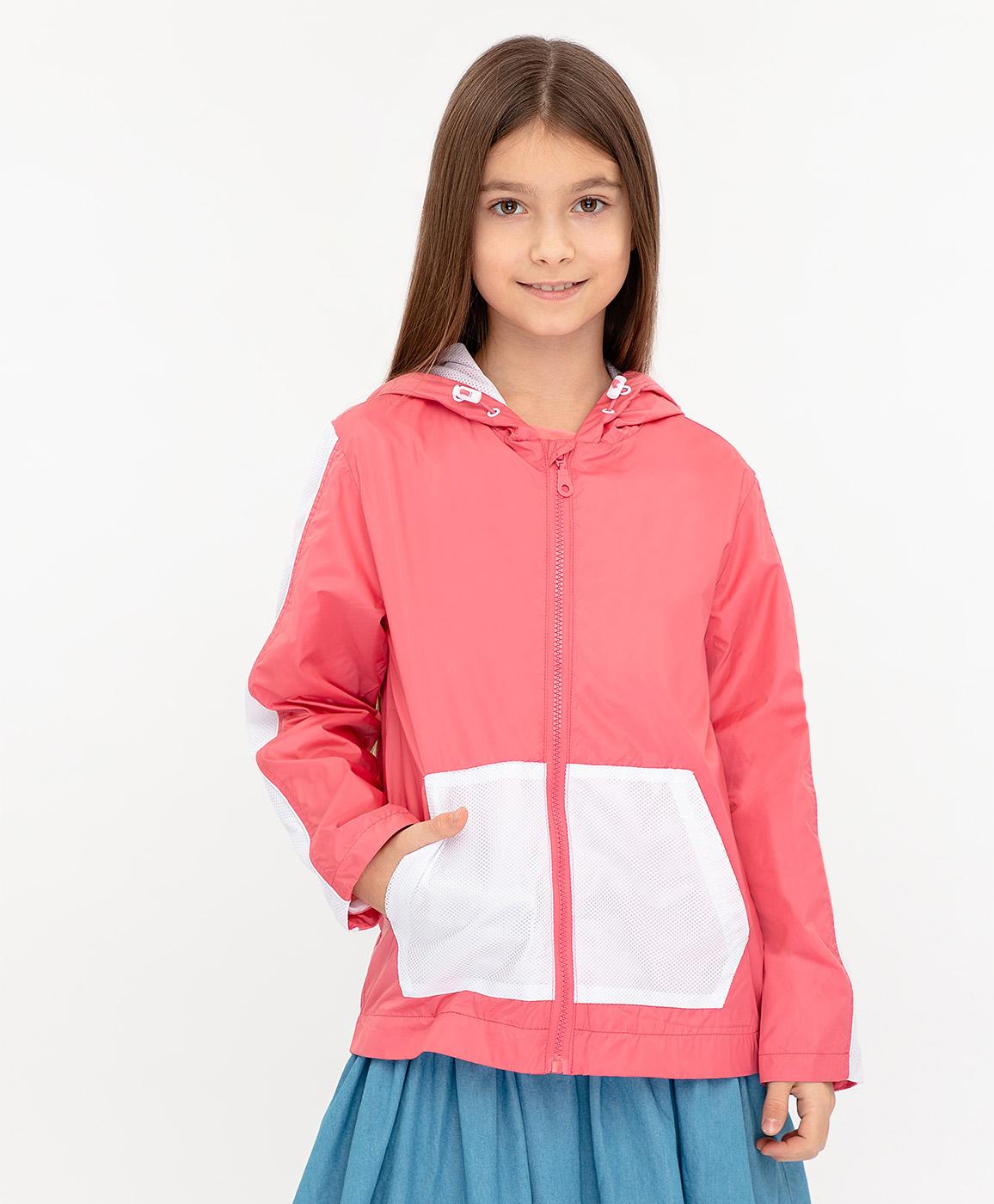 Ветровка для девочек Button Blue, цв. розовый,