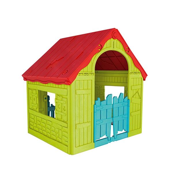 Купить Игровой дом Keter складной зеленый-красный,