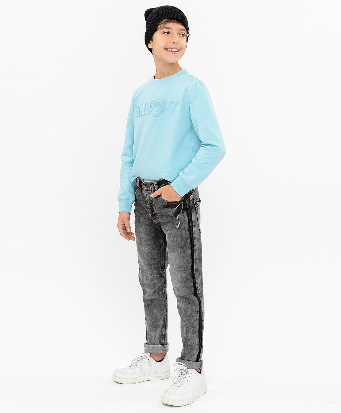 Джинсы для мальчиков Button Blue, цв. серый, р-р 152 фото