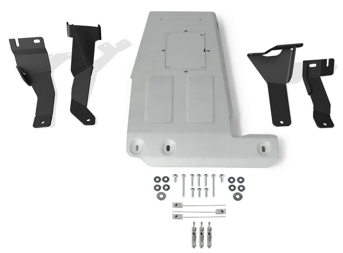 Защита картера Rival Jeep Wrangler JL , штампованная, алюминий 6 мм, 2333.2744.1.6