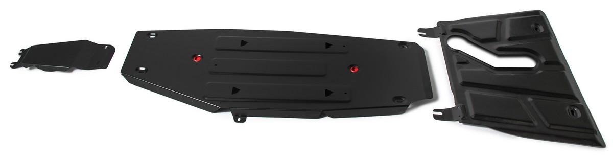 Защита картера и КПП АвтоБроня (с вырезом под глушитель) для Toyota RAV4 CA40 АКПП 2012-20