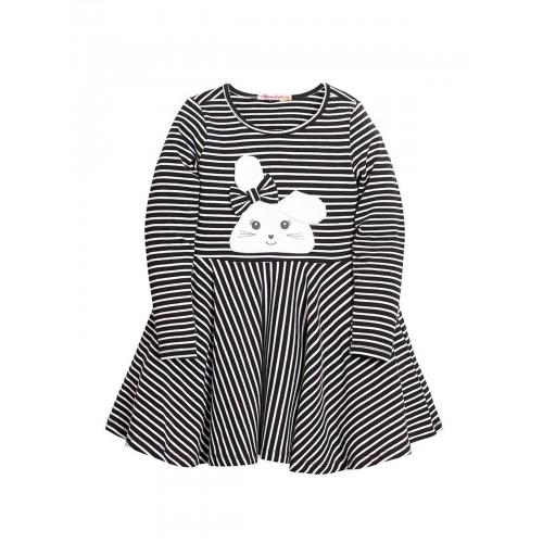 Платье для девочек Bonito kids, цв. черный, р-р 110