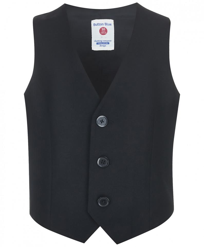 Жилет для мальчиков Button Blue, цв. черный, р-р 170