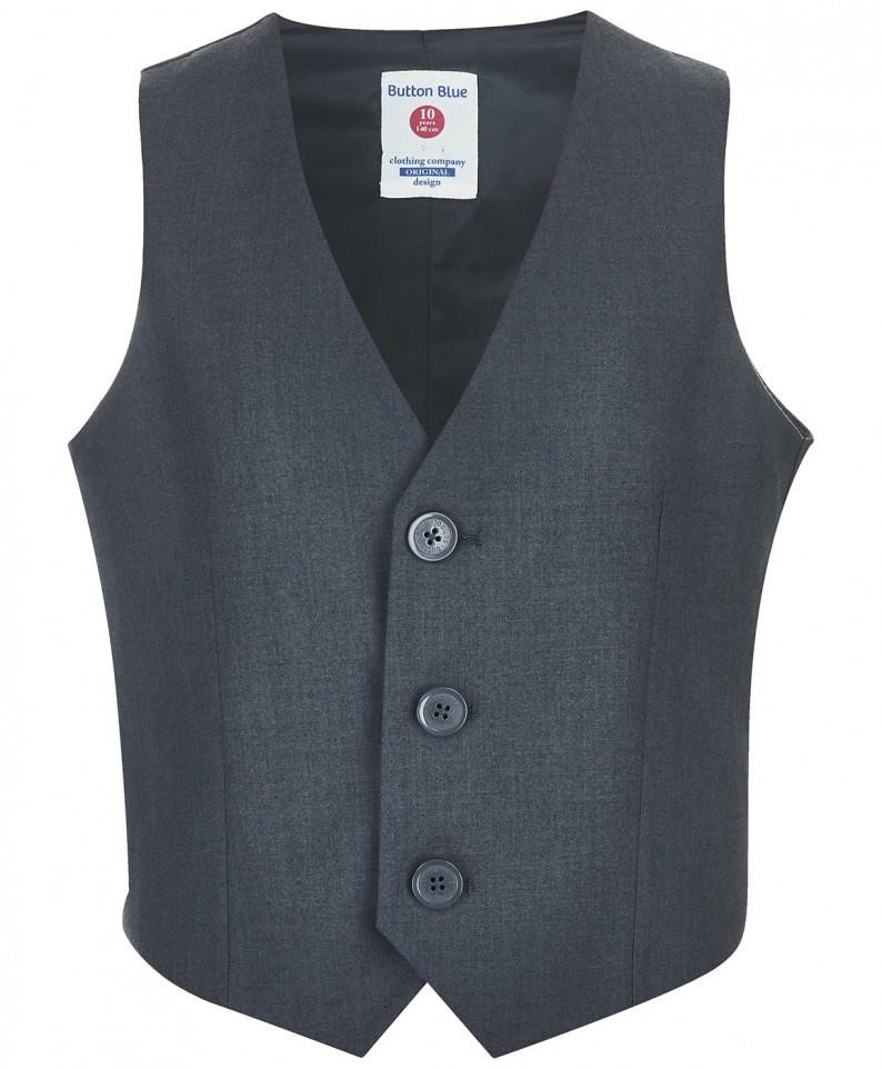 Жилет для мальчиков Button Blue, цв. серый, р-р 170
