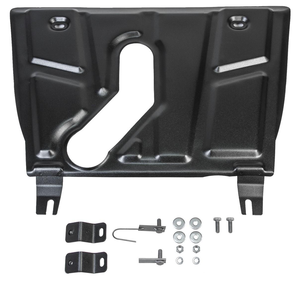 Защита картера и КПП АвтоБроня (с вырезом под глушитель) для Toyota RAV4 XA30 2005-2010/RA