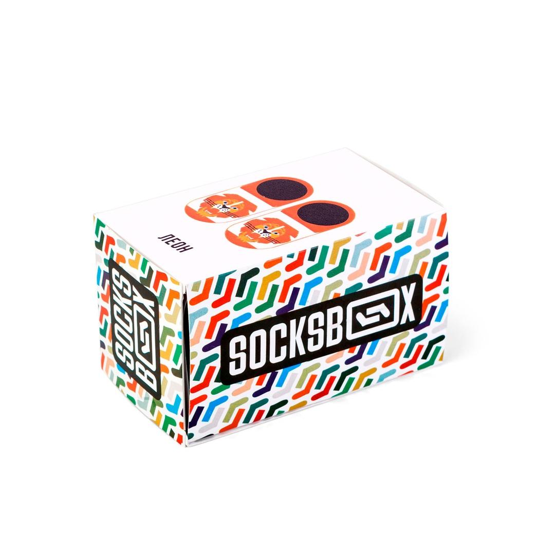 Носки унисекс Socks Box SockSbox_Leon оранжевые 36-39