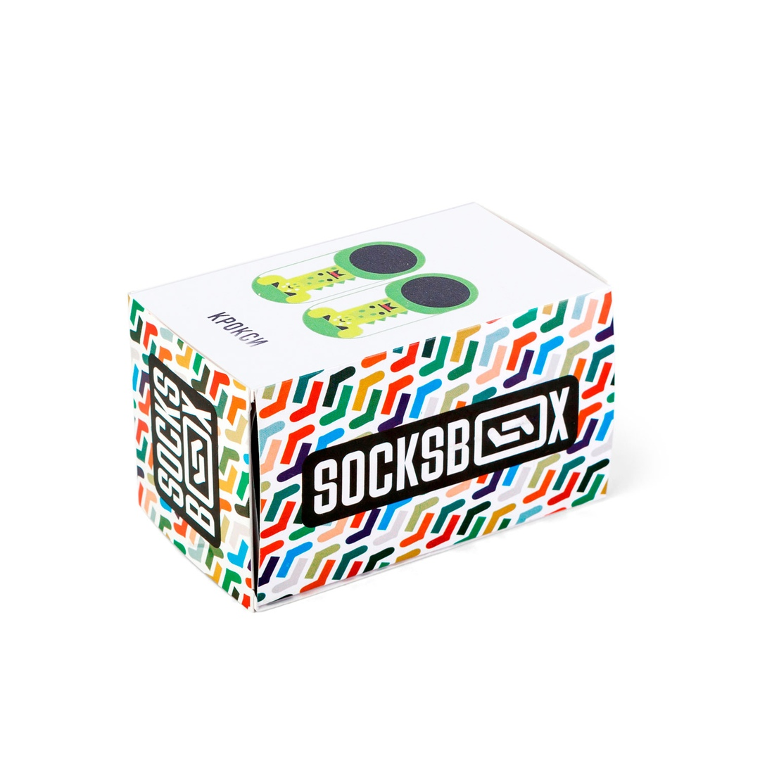 Носки унисекс Socks Box SockSbox_Crocsy зеленые 30-35