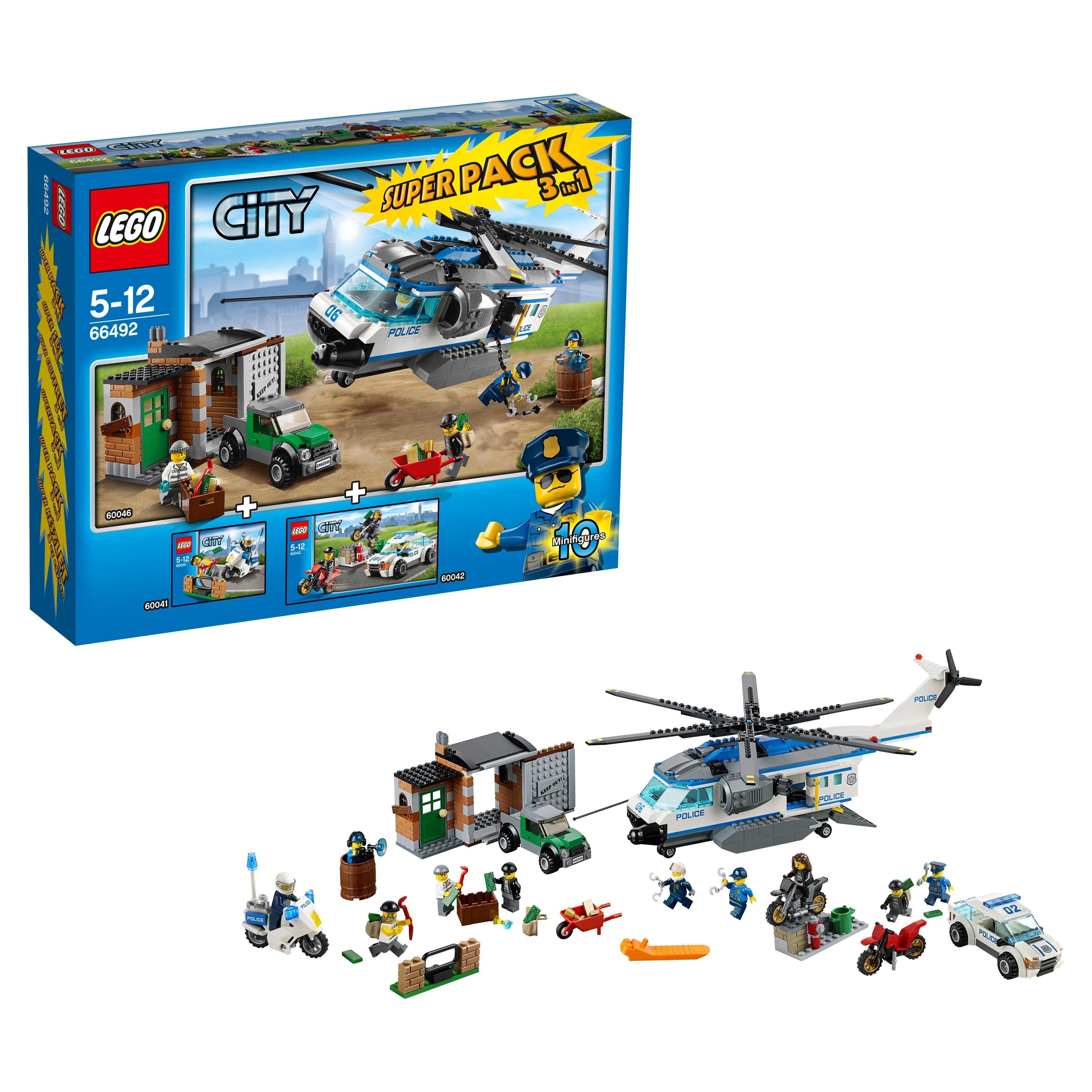 Конструктор LEGO City Police Супер упаковка 3 в 1 (66492) конструктор lego city police супер упаковка 3 в 1 66492