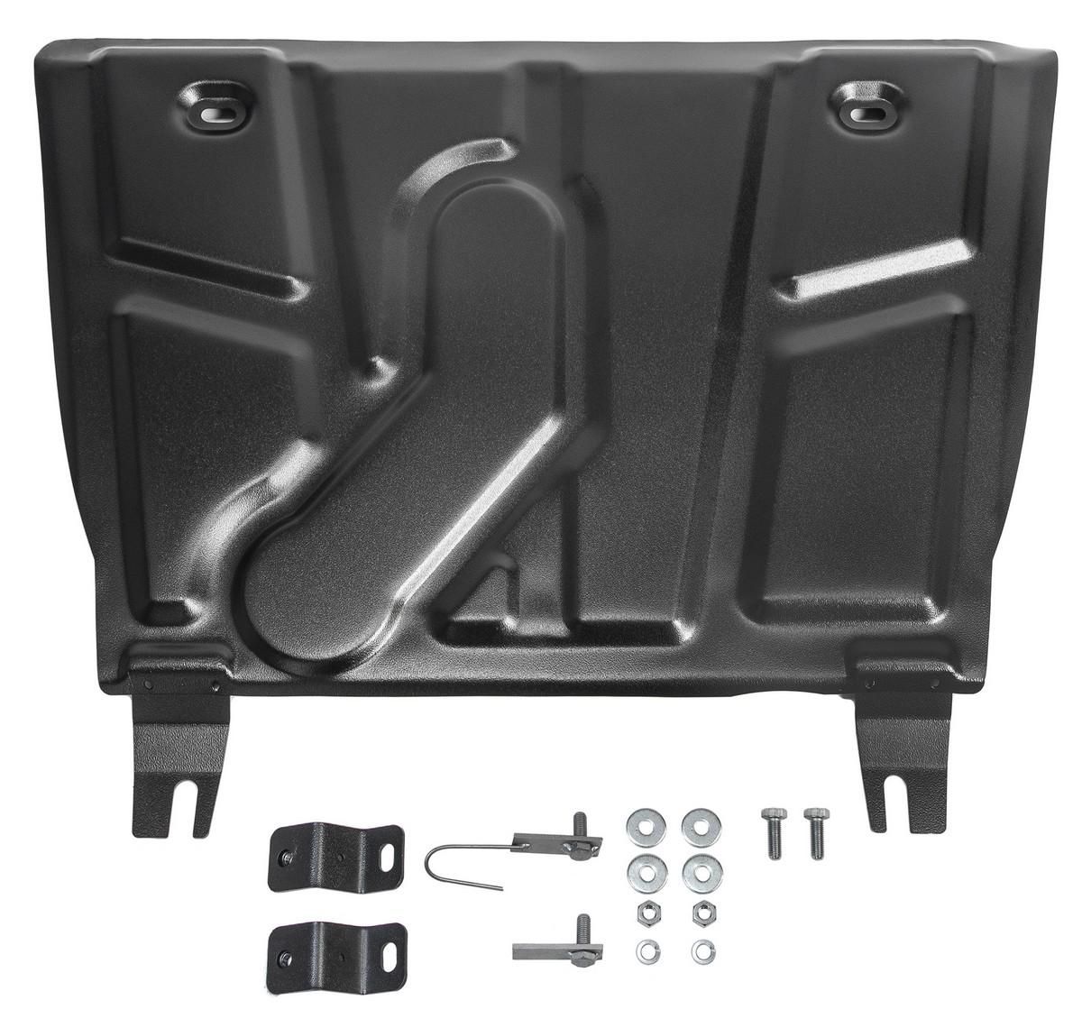 Защита картера и КПП АвтоБроня для Toyota RAV4 XA30, CA40 2010-2019, штампованная, сталь 1