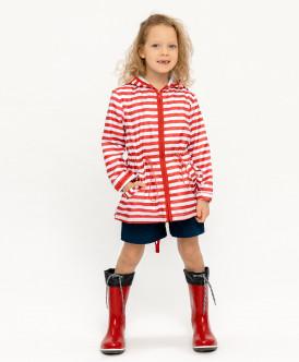 Купить 120BBGC40013505, Плащ для девочек Button Blue, цв. красный, р-р 128, Дождевики и плащи для девочек