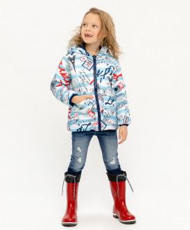 Купить 120BBGC41011013, Куртка для девочек Button Blue, цв. голубой, р-р 110, Куртки для девочек