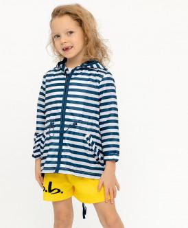 Купить 120BBGC40011005, Плащ для девочек Button Blue, цв. синий, р-р 128, Дождевики и плащи для девочек