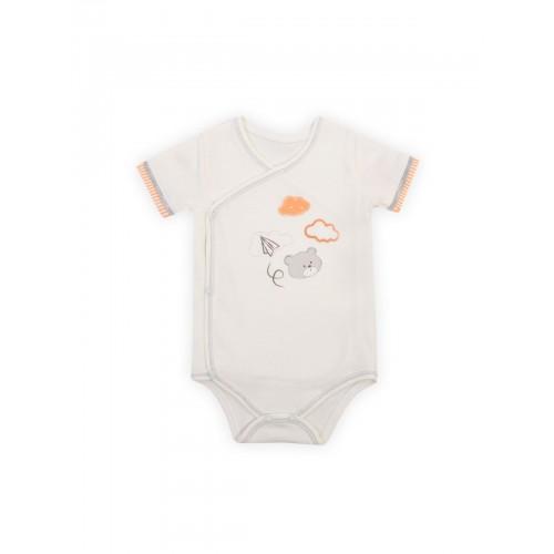 Боди для малышей KIDAXI BABY, цв. оранжевый,