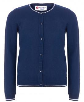Купить 218BBGS35011000, Кардиган для девочек Button Blue, цв. синий, р-р 170, Кардиганы для девочек