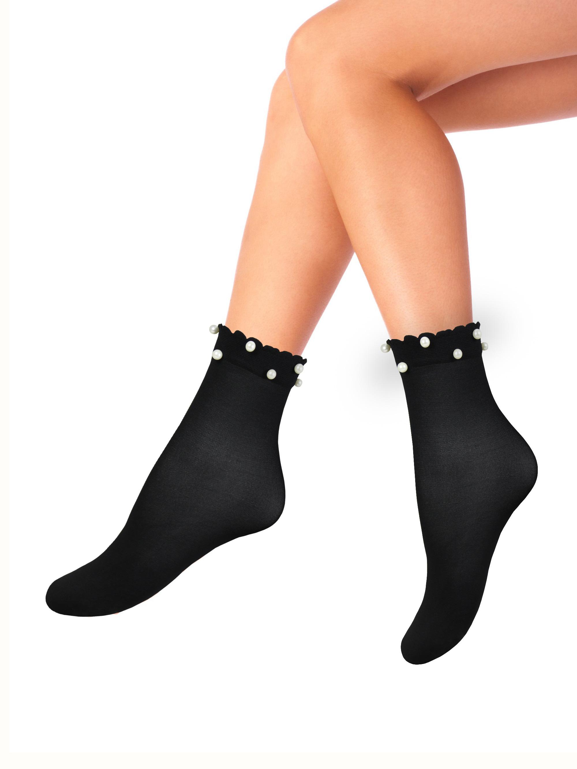 Капроновые носки женские Mademoiselle Jewel (c.) черные UNICA