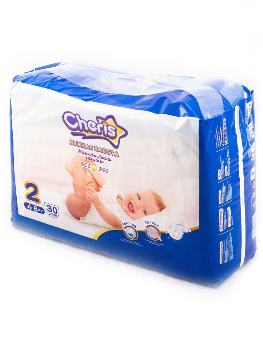 Подгузники для детей CHERIS бумажные 4-8 кг, 30 шт.