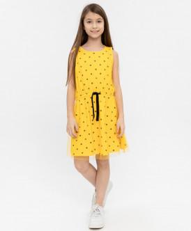 Купить 120BBGC50012704, Платье для девочек Button Blue, цв. желтый, р-р 158, Платья для девочек