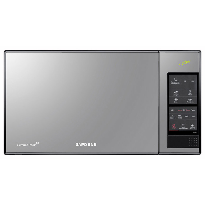 Микроволновая печь с грилем Samsung GE83XR black/mirror фото