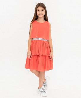 Купить 120BBGP25022200, Платье для девочек Button Blue, цв. красный, р-р 158, Платья для девочек