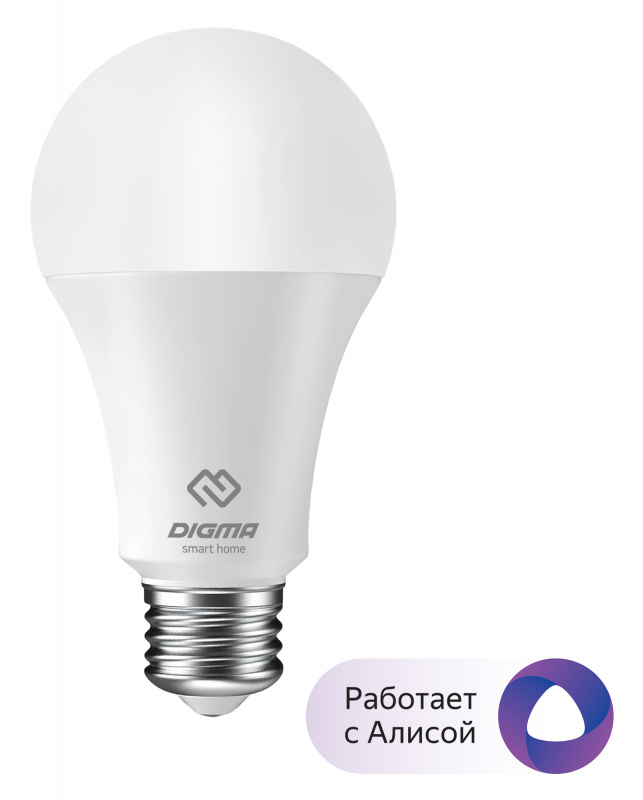 Умная лампа Digma DiLight E27 W1