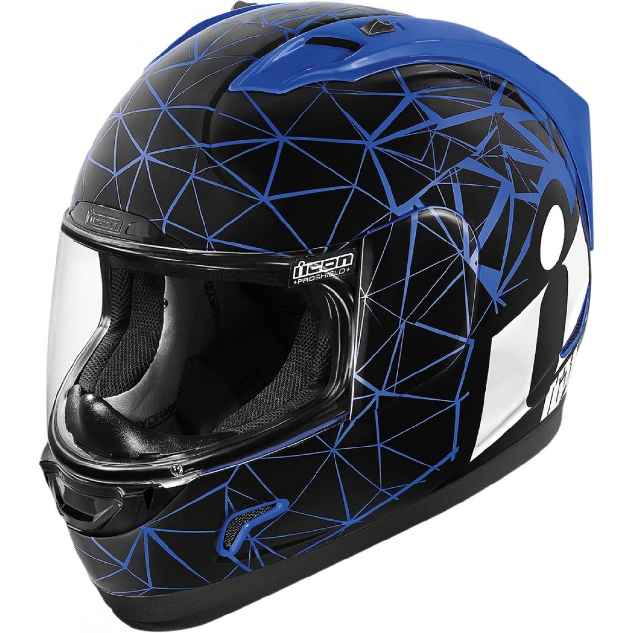 Шлем ICON ALLIANCE CRYSMATIC BLUE, размер XS