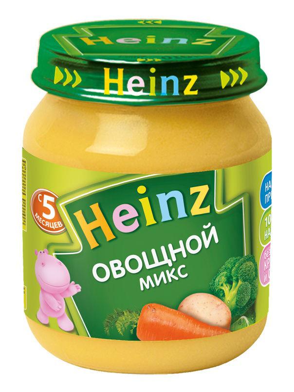 Купить Овощной микс, Пюре Heinz овощной микс, 5 мес., 120г, 12 шт., Овощное пюре