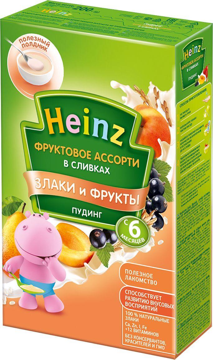 Пудинг Heinz молочный быстрорастворимый фруктовое ассорти