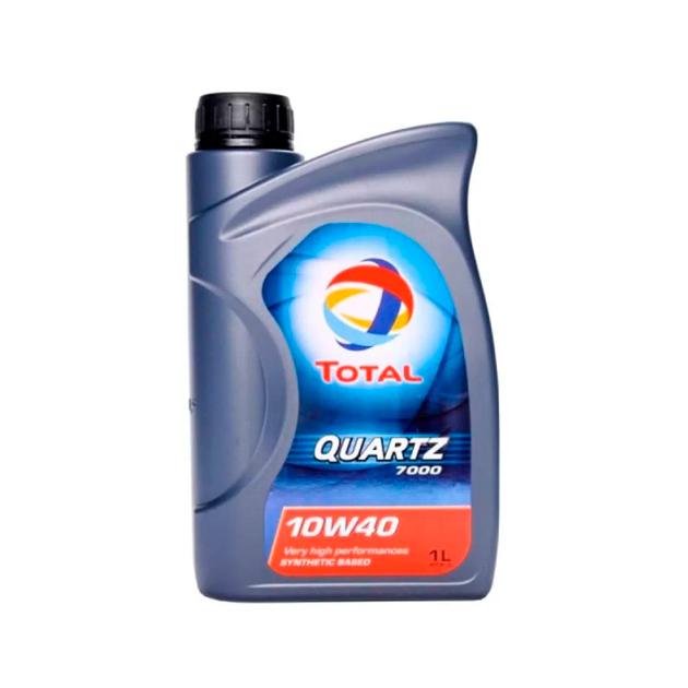 TOTAL 201528 масло моторное total quartz 7000 10w40 полусинтетическое 1 л 201528 фото