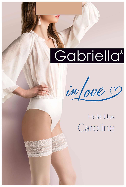 Чулки Caroline с резинкой на силиконовой основе Gabriella
