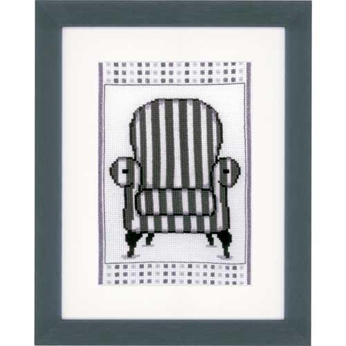 Набор для вышивания Кресло в стиле барокко 13 х 18см арт. PN-0148610 Vervaco