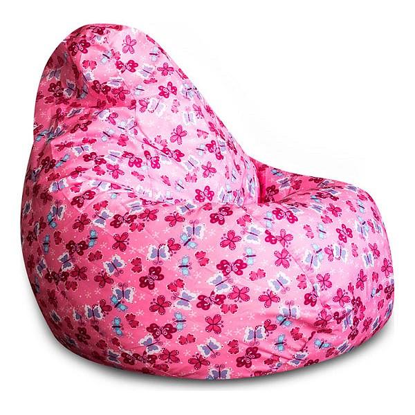 Кресло мешок Розовые Бабочки 3XL