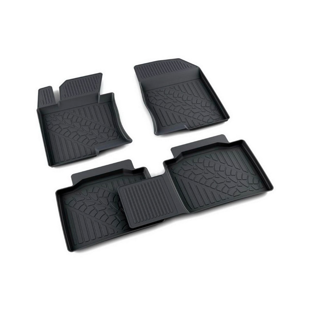 Коврики салона полиуретан черный Hyundai Sonata VI (YF) 2010- АГАТЭК A.003.127.PL