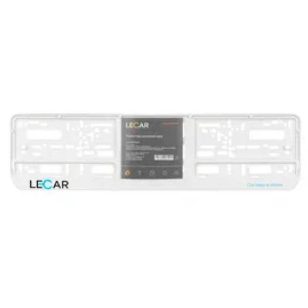 Рамка под номерной знак с лого LECAR