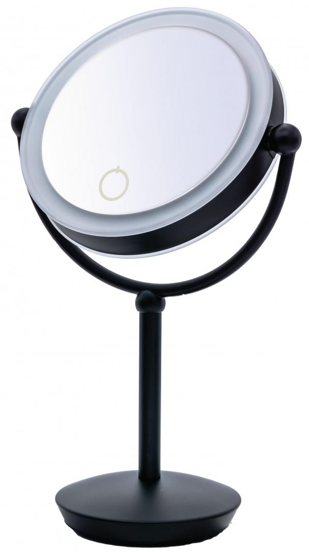 Зеркало косметич. настольное Moana 1х/5х-увелич. LED сенсор чёрный по цене 10 633