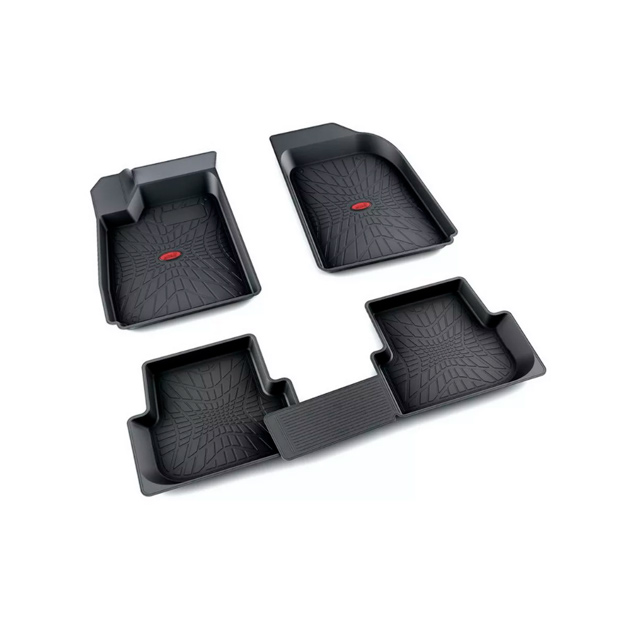 Коврики салона резина черный Chevrolet Aveo седан