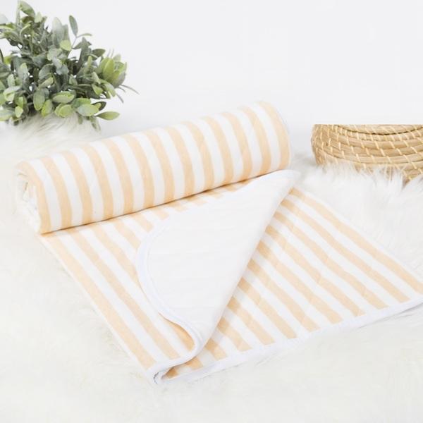 Одеяло покрывало трикотажное Дорожка желтый 100х140