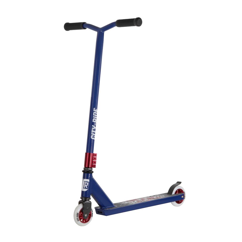 Купить Трюковый самокат City-Ride CR-SS-05DBL Синий, Самокаты детские двухколесные