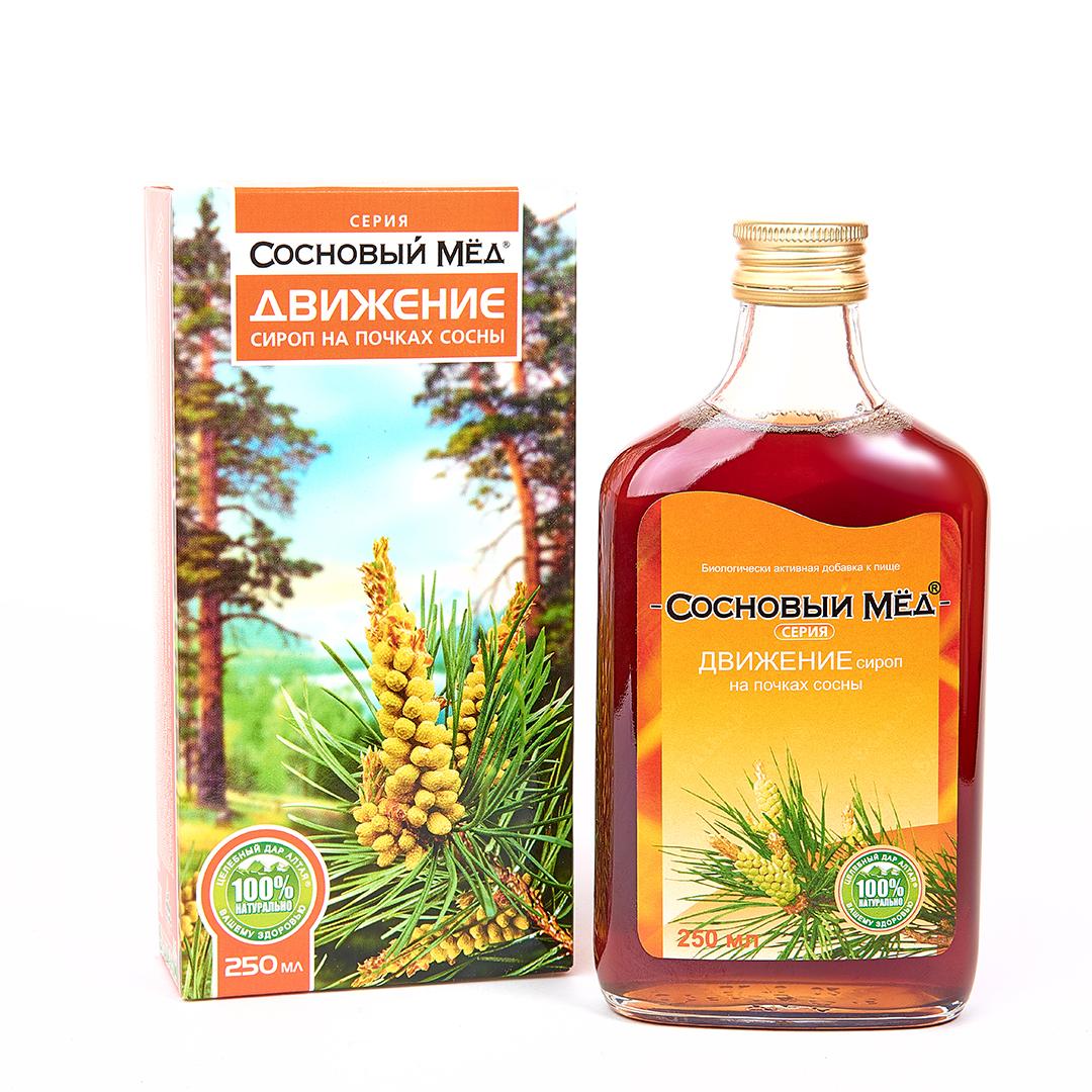 Купить Сироп Сосновый мед Движение сироп 250 мл, Целебный дар Алтая