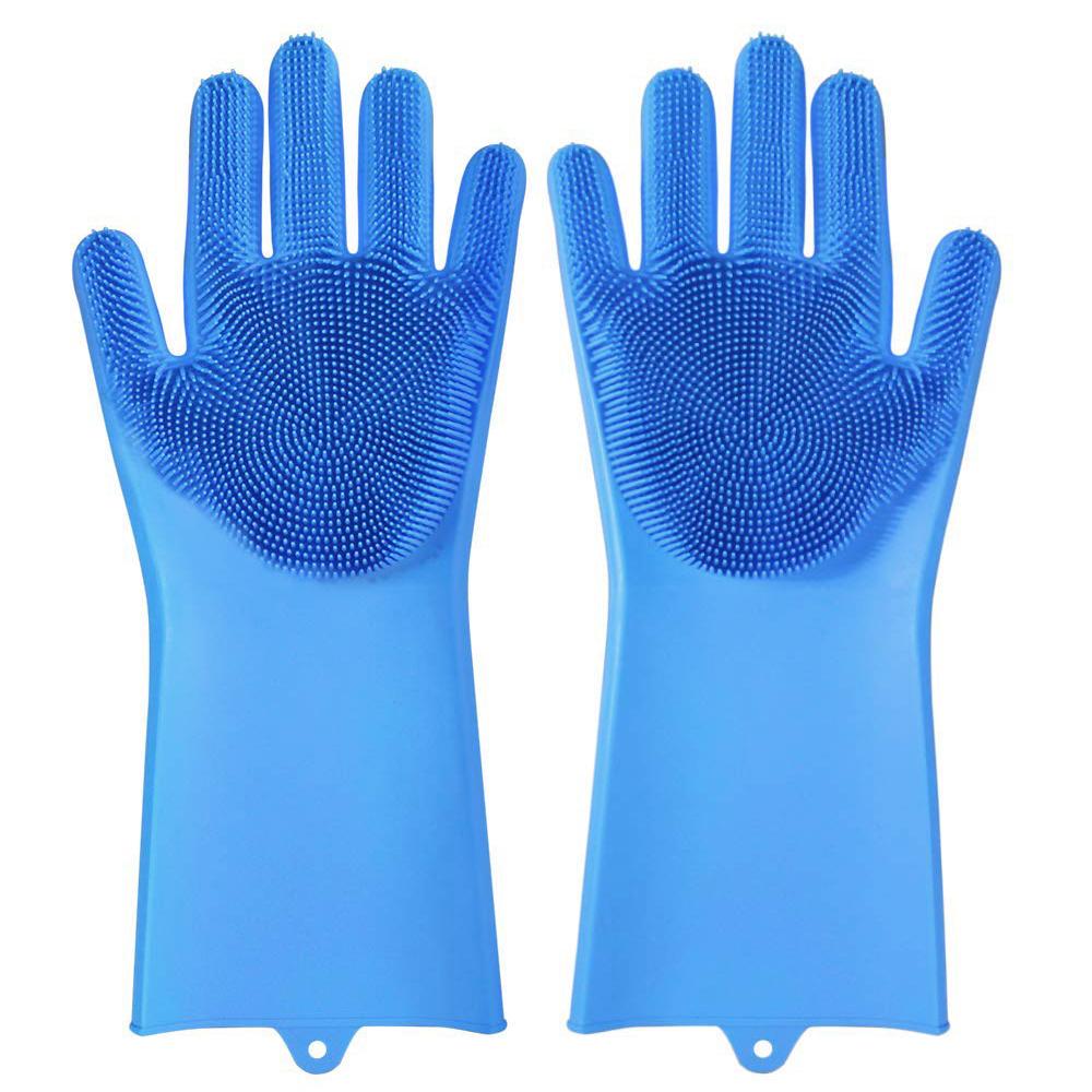 Перчатки силиконовые для мытья посуды Blonder Home