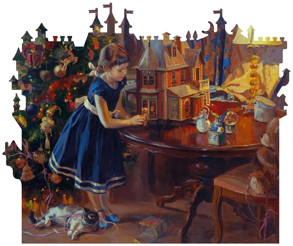 Купить Деревянный пазл DaVICI Кукольный домик 240 деталей, Пазлы