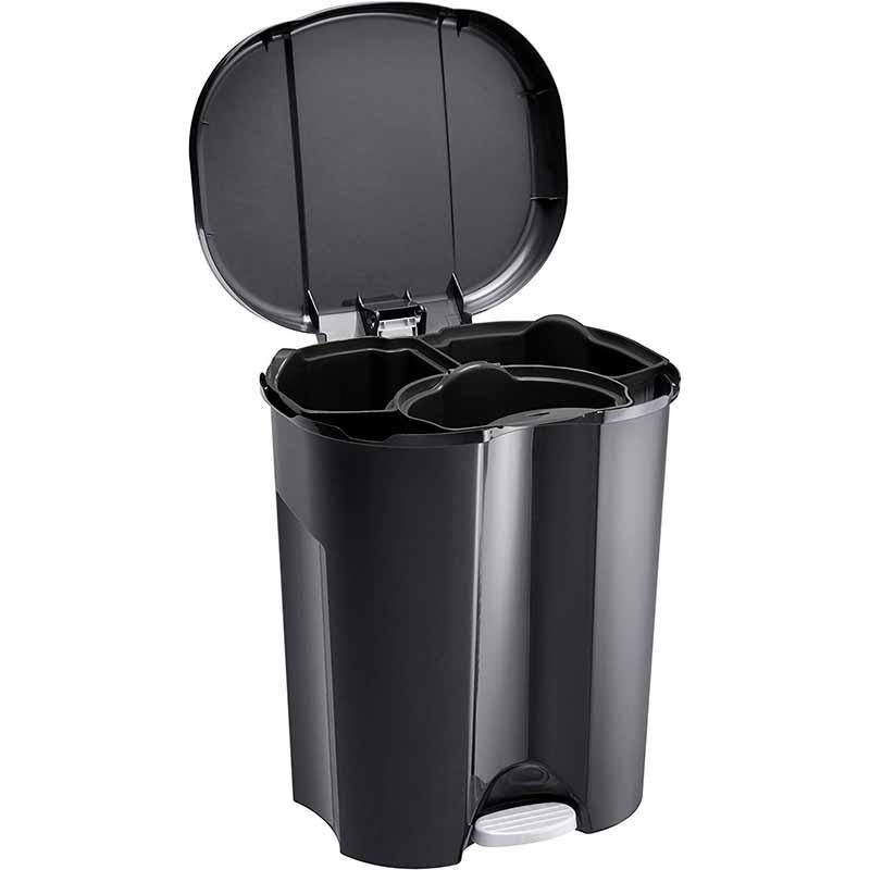 Контейнер для мусора с педалью Rotho TRIO