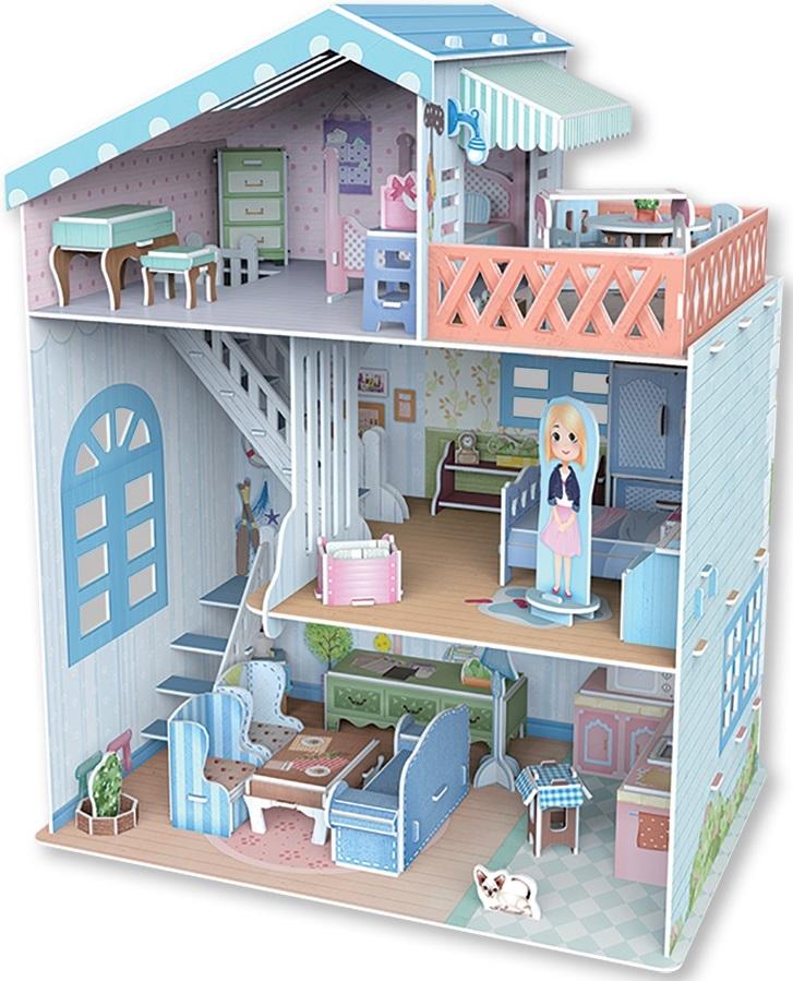 Купить Приморская вилла сборная модель серия Кукольные домики REZARK DLH-001, 3D-пазл REZARK 112 деталей,