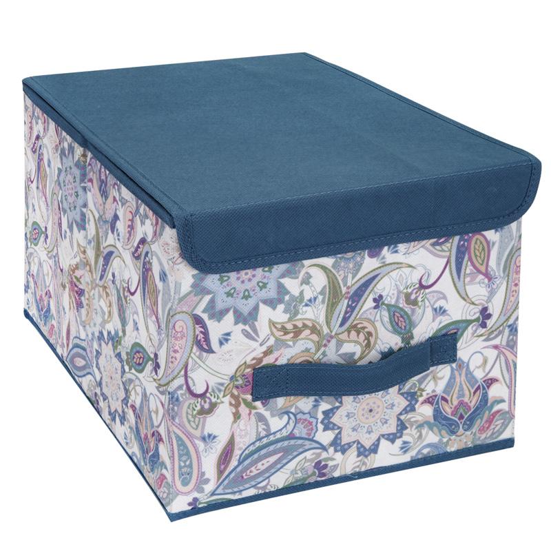 Кофр для хранения Hausmann Paisley 30x40x25см, синий